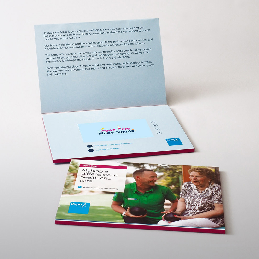 Bupa video brochure gallery