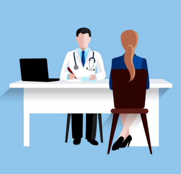 Medical doctor and nurse patients treatments and examination fla