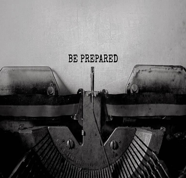 Prepare to fail